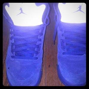 All blue Jordan 5s